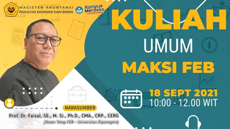 Kuliah Umum Invitation dengan Tema How to Develop Your Research to be Publishable